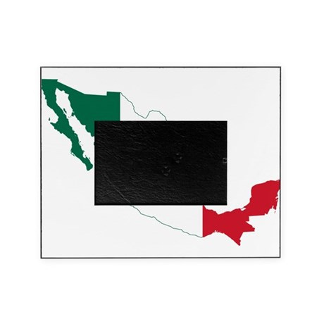 Mexico Flag and Map Picture Frame