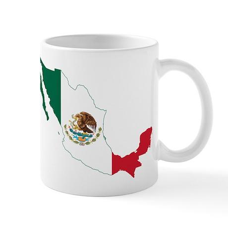 Mexico Flag and Map Mug