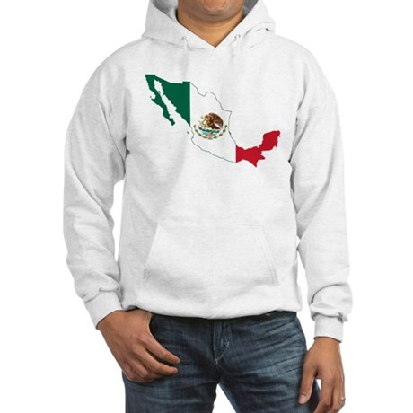 Mexico Flag and Map Hooded Sweatshirt