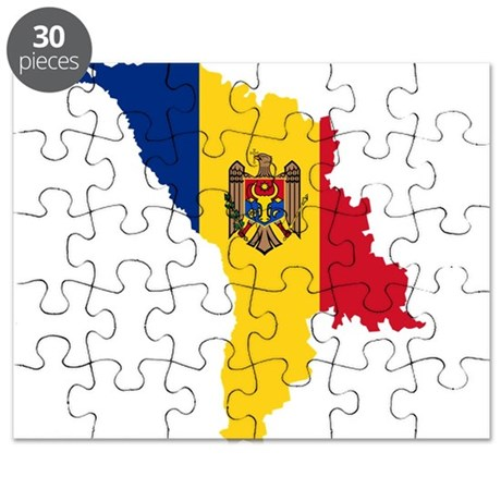 Moldova Flag and Map Puzzle