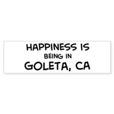Goleta - Happiness Bumper Bumper Sticker