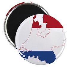 Netherlands Flag and Map Magnet