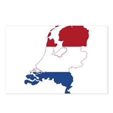 Netherlands Flag and Map Postcards (Package of 8)