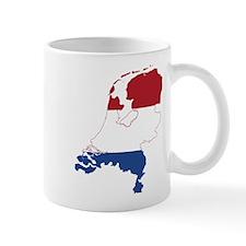 Netherlands Flag and Map Mug