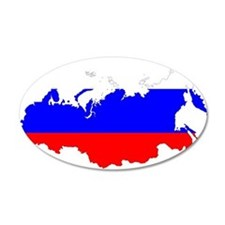 Russia Flag and Map Wall Decal