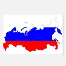 Russia Flag and Map Postcards (Package of 8)