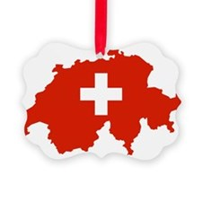 Switzerland Flag and Map Ornament