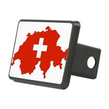 Switzerland Flag and Map Hitch Cover
