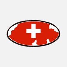 Switzerland Flag and Map Patches