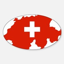 Switzerland Flag and Map Decal