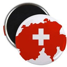 """Switzerland Flag and Map 2.25"""" Magnet (10 pack)"""