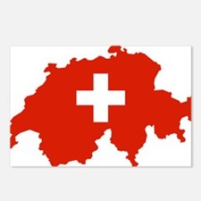 Switzerland Flag and Map Postcards (Package of 8)