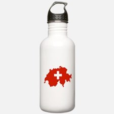 Switzerland Flag and Map Water Bottle