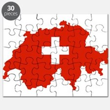 Switzerland Flag and Map Puzzle