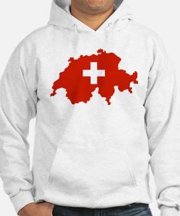 Switzerland Flag and Map Hoodie