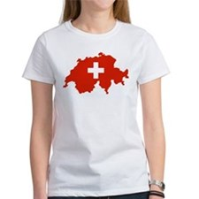 Switzerland Flag and Map Tee