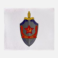 KGB Emblem Throw Blanket