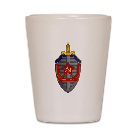 KGB Emblem Shot Glass
