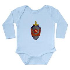 KGB Emblem Long Sleeve Infant Bodysuit