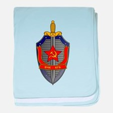 KGB Emblem baby blanket