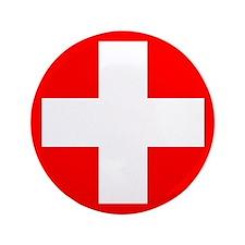 """Swiss flag 3.5"""" Button"""