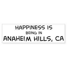 Anaheim Hills - Happiness Bumper Bumper Sticker