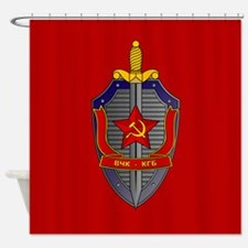 KGB Emblem Shower Curtain