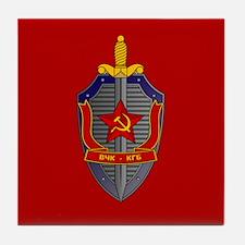 KGB Emblem Tile Coaster