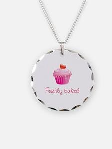 Freshly baked Necklace Circle Charm