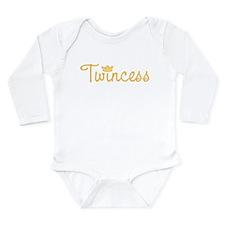 Twincess Long Sleeve Infant Bodysuit
