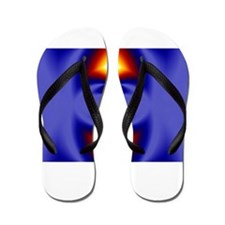 Deep Purple Fractal Design Flip Flops