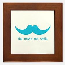 You make me smile Framed Tile