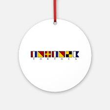 Nautical Tortola Ornament (Round)