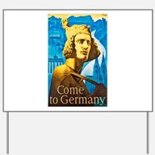 Germany Travel Poster 1 Yard Sign