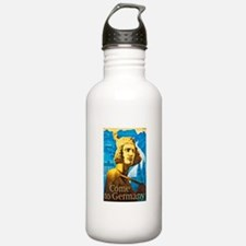 Germany Travel Poster 1 Water Bottle
