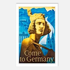 Germany Travel Poster 1 Postcards (Package of 8)