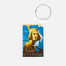 Germany Travel Poster 1 Keychains