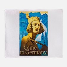 Germany Travel Poster 1 Throw Blanket