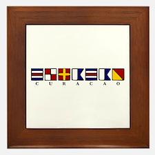 Nautical Curacao Framed Tile