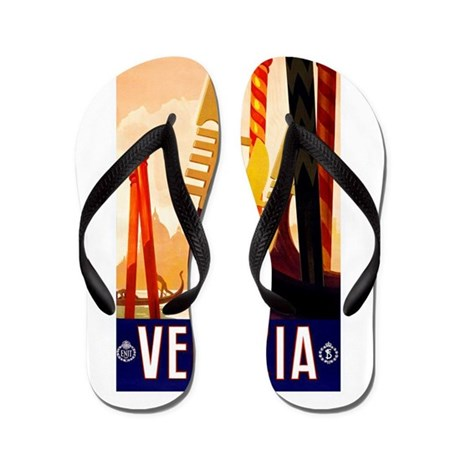 Venice Travel Poster 1 Flip Flops