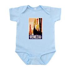 Venice Travel Poster 1 Infant Bodysuit