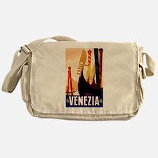 Venice Travel Poster 1 Messenger Bag