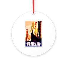 Venice Travel Poster 1 Ornament (Round)