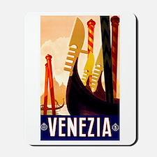 Venice Travel Poster 1 Mousepad