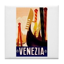 Venice Travel Poster 1 Tile Coaster