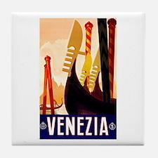 Venice Travel Poster 1 Tile Coaster