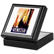 Venice Travel Poster 1 Keepsake Box