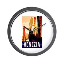 Venice Travel Poster 1 Wall Clock