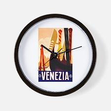 Venice Travel Poster 1 Wall Clock