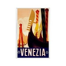 Venice Travel Poster 1 Rectangle Magnet